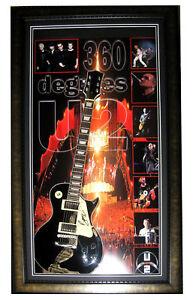 U2 360 DEGREES BONO SIGNED & FRAMED GUITAR PHOTO PROOF