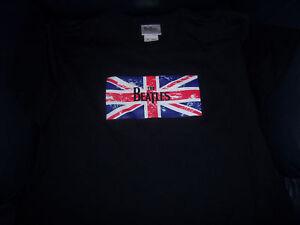 The-Beatles-UNION-JACK-FLAG-T-SHIRT-Black-BNWT-XL-FAB