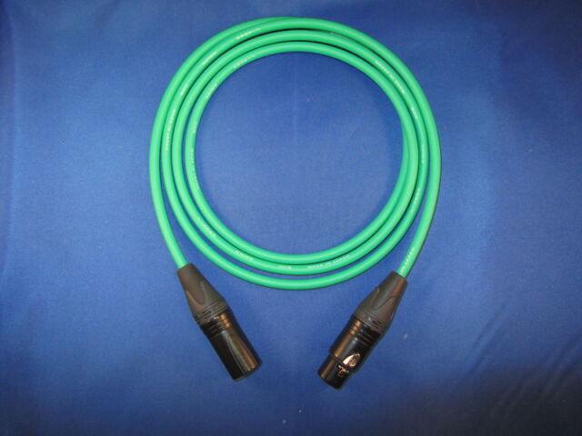Canare Green Quad Microphone Mic Cable NEUTRCK XLR 3 FT | eBay
