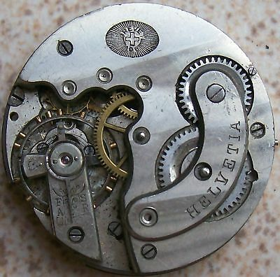 Helvetia vintage Pocket Watch movement 41 mm. in diameter balance Ok.