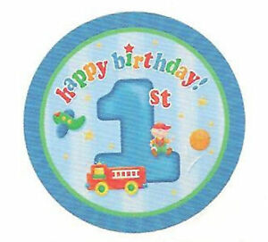 FUN-AT-1-BOY-PARTY-PLATES-1ST-BIRTHDAY-9-034-PACK-8