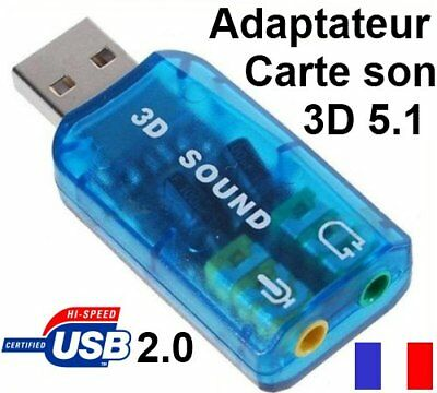 Adaptateur Clé Carte Son Virtual Usb 2.0 Surround 5.1 Windows 8 Windows 10
