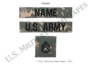 U-S-Army-ACU-Name-Tape-Service-Tape-amp-Rank-Patch-Set