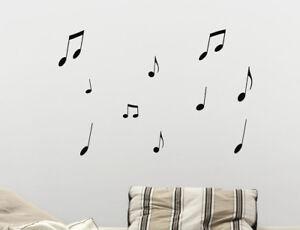 stencil murali pareti : Dettagli su Wall stickers adesivi murali stencil NOTE MUSICALI altezza ...