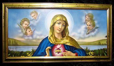 SANTA MARÍA VIRGEN, foto pintura Madre Gottes 77x42 MARIA Iconos