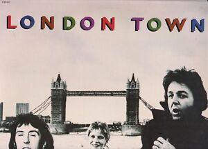 Paul-McCartney-034-London-Town-034-vinyl-Italy-w-poster