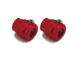 SPECTRE-ALUMINUM-BRAIDED-5-16-FUEL-HOSE-CLAMPS-RED
