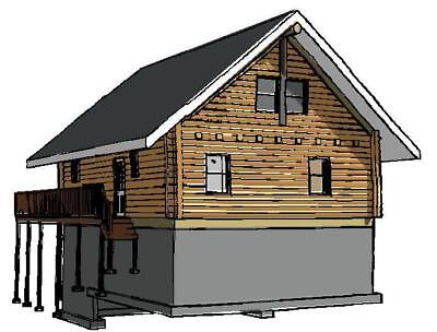 26 x 34 log cabin package wholesale ebay for Log cabin packages for sale