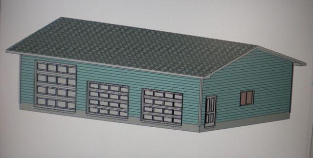 28 X 40 Garage Shop Plans Materials List Blueprints Plan 1049 eBay