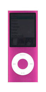 iPod-nano-4th-Generation-Pink-8GB-accessories-free-warranty