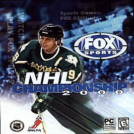 FOX SPORTS NHL CHAMPIONSHIP 2000 for PC --(1999) --Jewel Case/Manual Incl. -Used