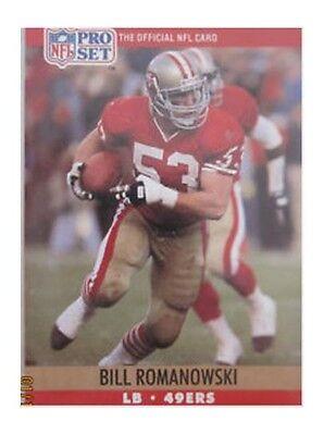 ac300051b62 1990 Pro Set Bill Romanowski San Francisco 49ers  642 Football Card for  sale online