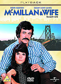 McMILLAN AND WIFE COMPLETE SERIES ONE SEASON 1 GENUINE R2 DVD ROCK HUDSON 3-DISC