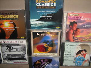 7-CD-LOT-LOVE-amp-ROMANCE-Classical-Pop-amp-Rock-CDS-V-A
