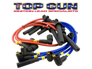 Topgun-Pro-Racing-8-8mm-Spiral-Ignition-Leads-Holden-V8-253-308-Red-Motor