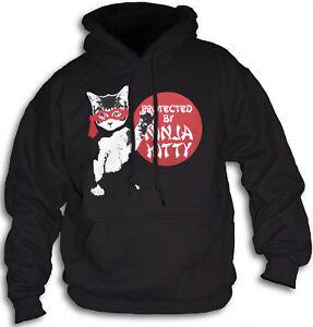 Cute-Ninja-Kitty-Cat-Girls-Womens-amp-Youth-Hooded-Top-Sm-2XL-Sweatshirt-Hoody