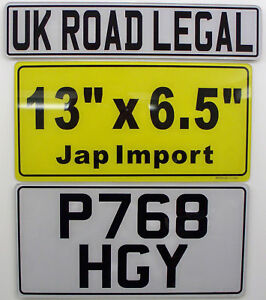 JAP IMPORT NUMBER PLATE 13