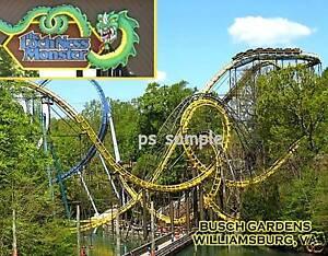 Virginia Busch Garden Loch Ness Monster Roller Coaster Flexible Magnet Ebay