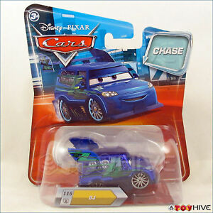 Disney Pixar Cars Dj Chase 115 Metallic Blue Paint Diecast
