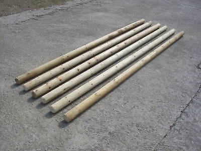 SET OF 6 RUSTIC LIGHTWEIGHT TIMBER PONY SHOW JUMP POLES