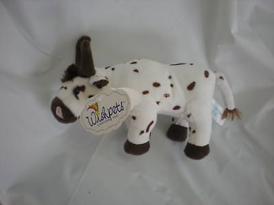 Wishpets Brown White Spot Bull Cow Tex 9 Lovey