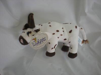 Wishpets Brown White Spot Bull Cow Tex 9 Lovey