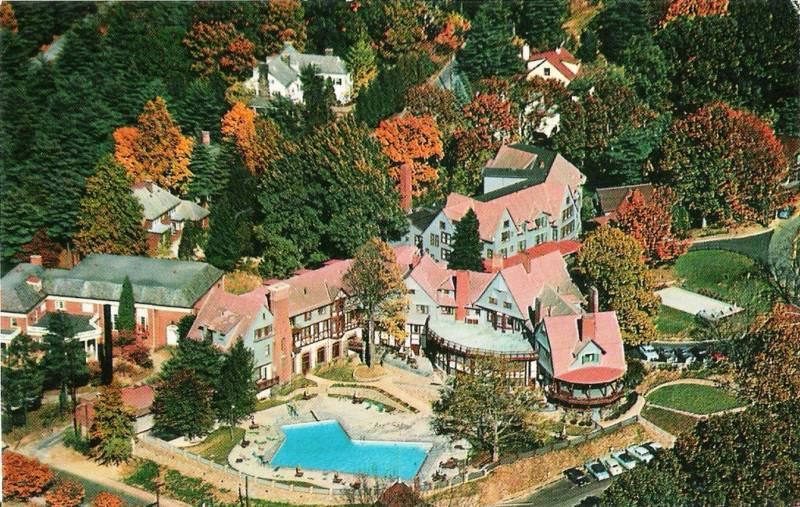 Postcard North Carolina Asheville Manor Retirement Club c1960s-70s Buncombe Cnty
