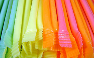 Retro Sweets 50 Rainbow Dust Straws Party Bag Fillers