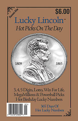 Lucky Lincoln Hot Picks On The Day   Lottery Book