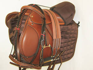 Close Contact English Saddle Pkg. American Brown 17