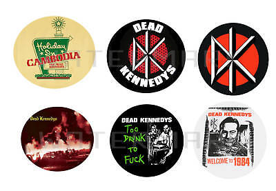"""Dead Kennedys set of 6 ONE INCH BUTTONS 1"""" Pins"""