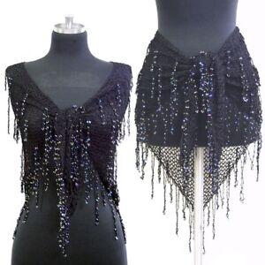 Belly-Dance-Crochet-Beaded-Triangle-Wrap-Belt-Hip-Scarf