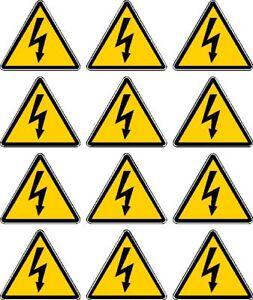 High Voltage Warning Sign Stickers Decals 12 622 Ebay