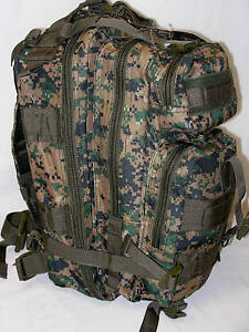 Tactical-Backpack-Digital-Woodland-Camo-Medium-3-Day-Assault-Molle-Military-NEW