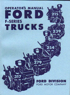 1952 Ford Truck Owner's Manual- Series F-1 Thru F-8