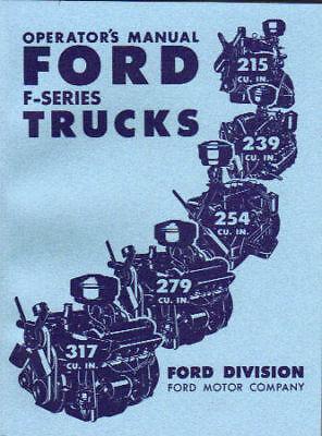 1952 Ford Truck Owner's Manual- Series F-1 Thru F-8