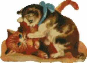 Kittens-Cats-Playing-Counted-Cross-Stitch-Kit-10-034-x-7-034-25-1cm-x-18-2cm