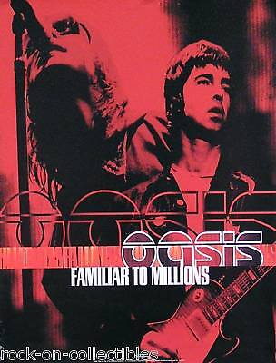 OASIS 2000 FAMILIAR TO MILLIONS RED US ORIGINAL PROMO POSTER