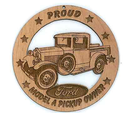 1931 Ford Model a Pickup Wood Ornament Engraved