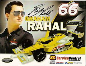 2010-GRAHAM-RAHAL-signed-INDIANAPOLIS-500-PHOTO-CARD-POSTCARD-INDY-CAR-RACING