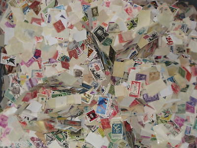 Used off Paper 1000 US Stamps From a huge hoard box collection
