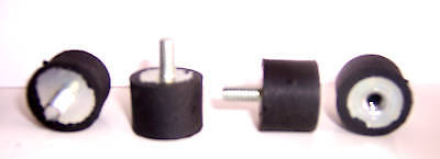 "4 Male / Female Rubber Isolator Mount 1/4-20 1"" x 3/4"" on Rummage"