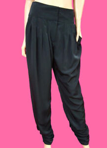 NEW-Black-Ruched-Harem-Hareem-Trousers-8-10-12-14-16-18