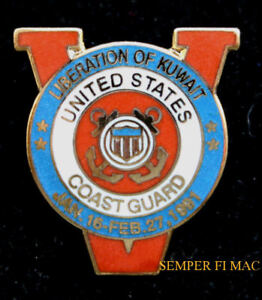 US-COAST-GUARD-VICTORY-OPERATION-DESERT-STORM-1991-SHIELD-HAT-PIN-WOW-USCG