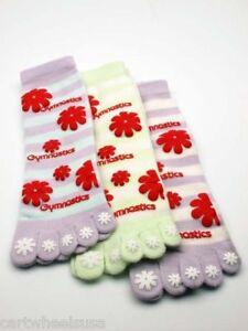 Girls-Gymnastics-Toe-Socks-Purple