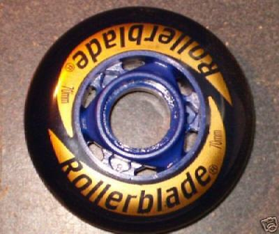 8 Inline Rollerblade Wheels Darkblue 70 Mm 82a