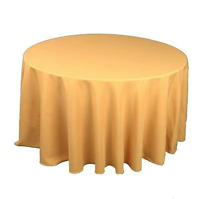 10 round 120 polyester tablecloths 5ft table cover high for 10 ft table cloth