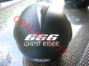 sticker autocollant ghost rider casque moto motard ebay