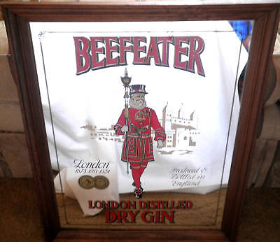"Beefeater's Mirror ""London Gin"" Sign -15 1/2"" x 19 1/4"""