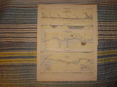 ANTIQUE SCOTLAND AMSTERDAM EGYPT SUEZ CANAL MAP SuperbN